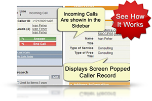 Salesforce Call Center: Inbound Call - Screenshots